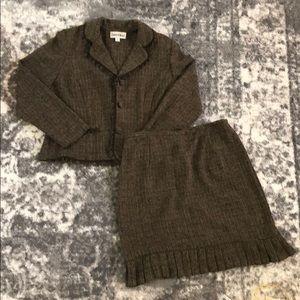 Danny & Nicole Fringe Skirt Suit Sz 14P